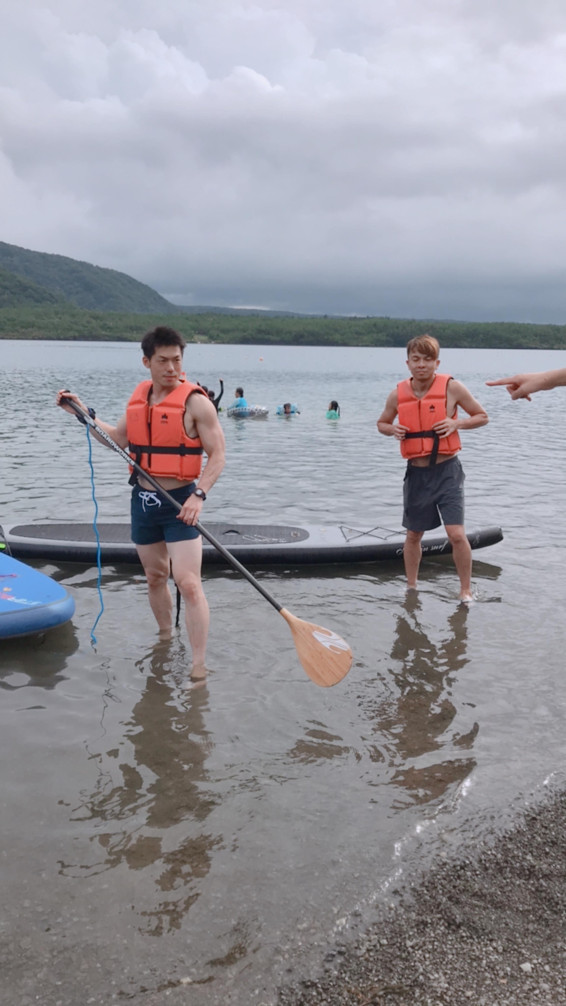 西湖にあるキャンプヴィレッジ ノームでサップ。ゆる〜く、スローな時間を過ごすにはもってこいの場所。