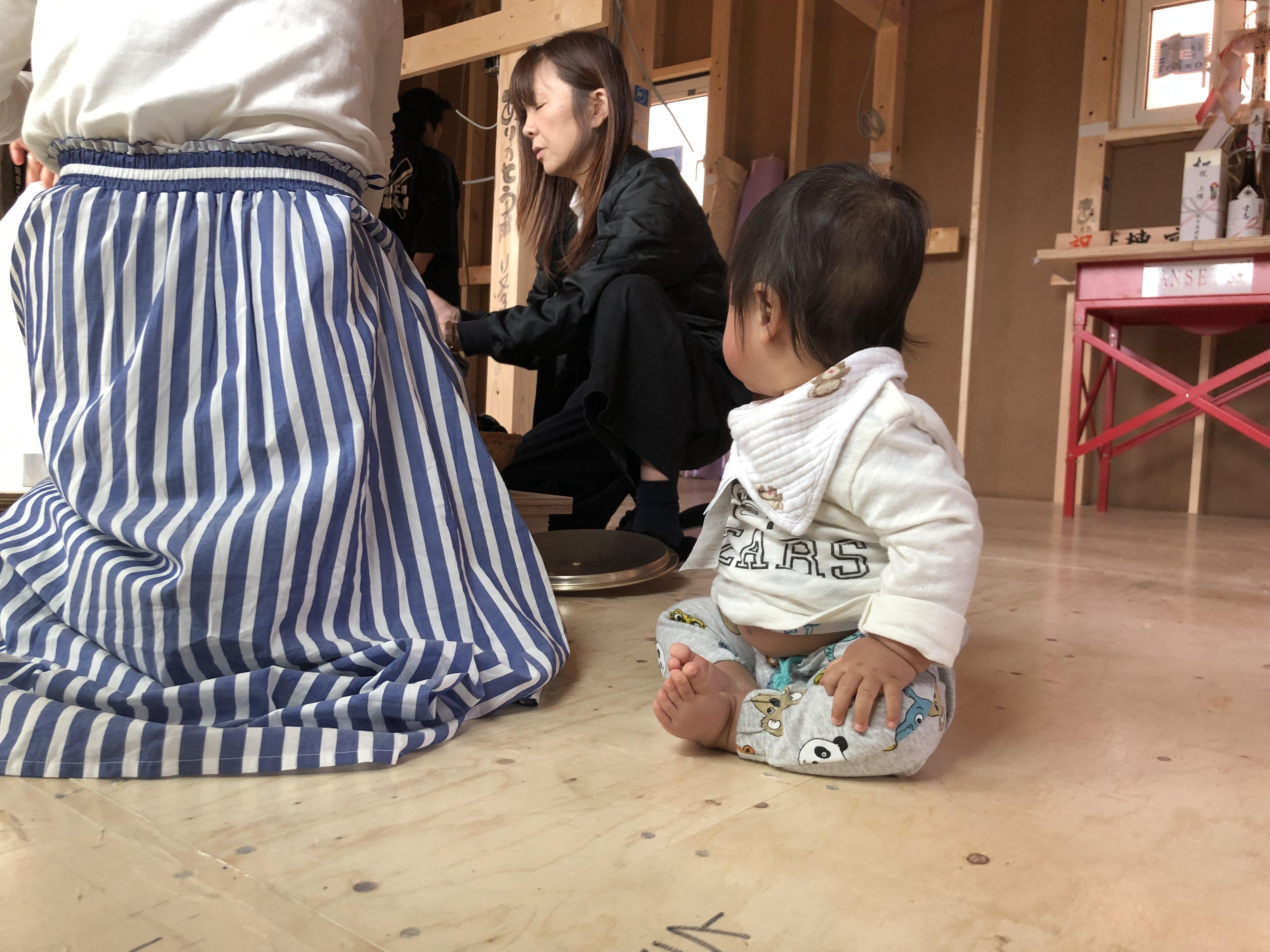 山梨県の工務店、未来建築工房とつくる注文住宅。|富士吉田市にて上棟式
