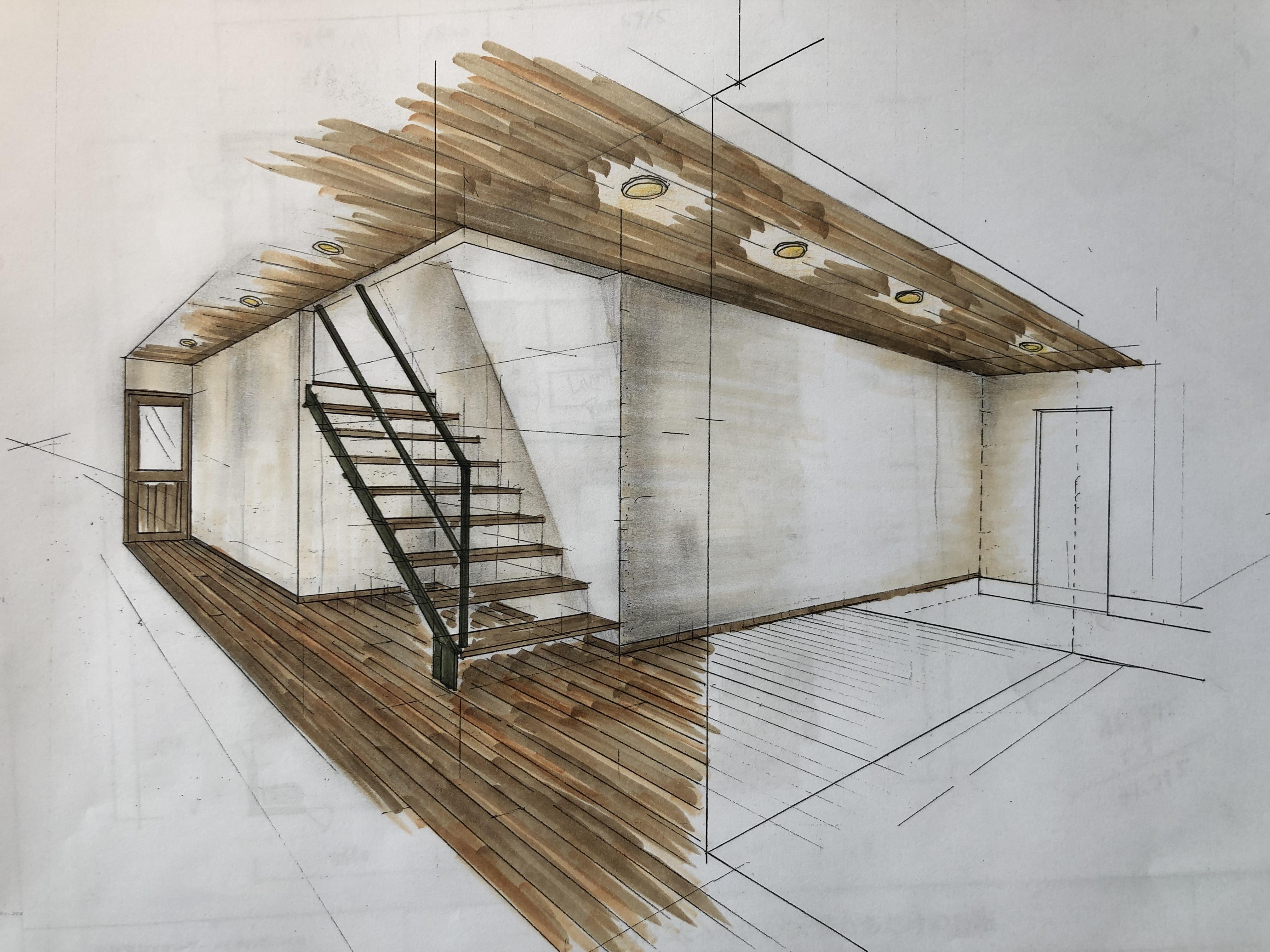 山梨県の工務店、未来建築工房とつくる注文住宅。|スケッチパース