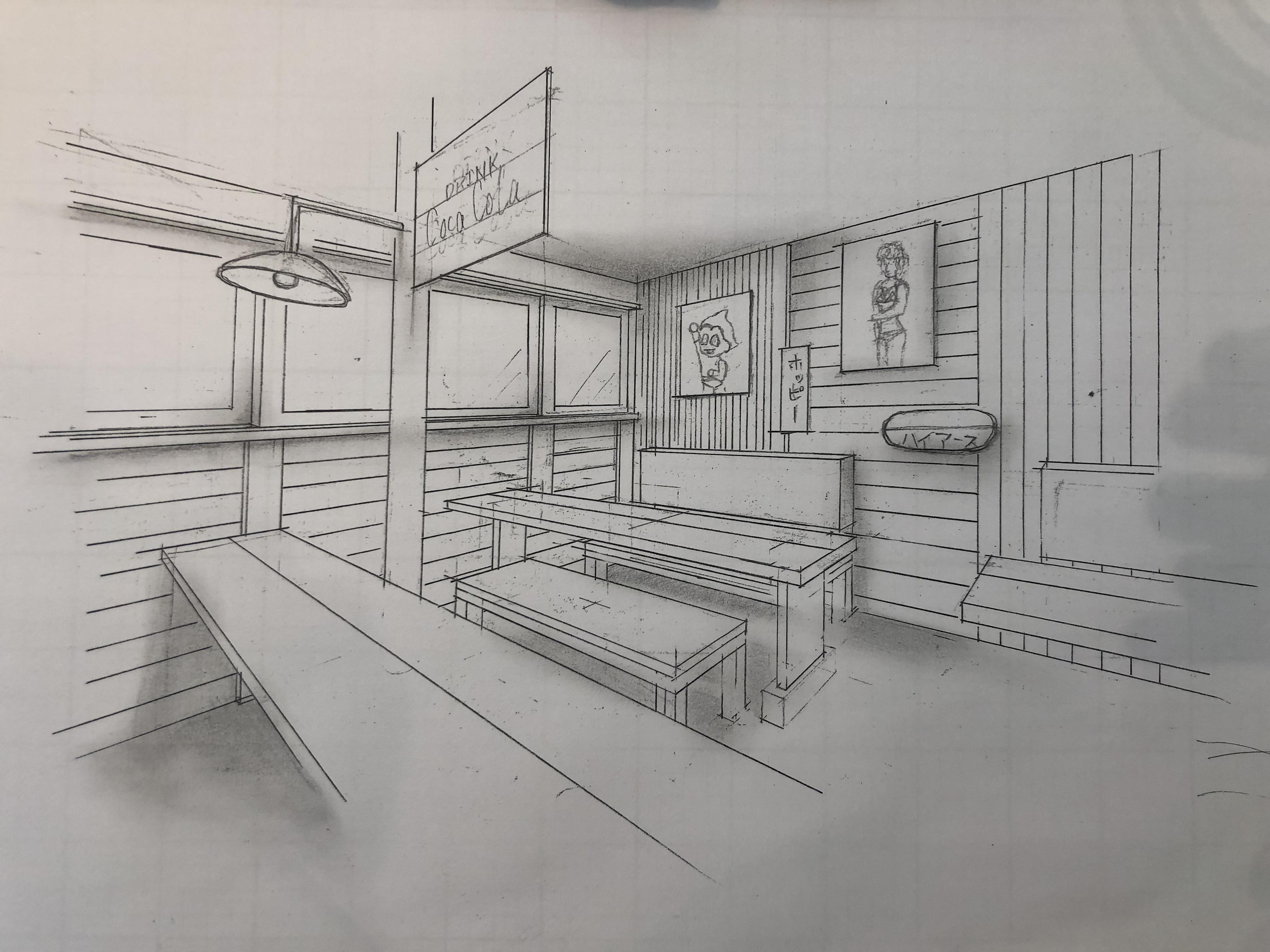 山梨県の工務店、未来建築工房とつくる注文住宅。|手書きスケッチパース