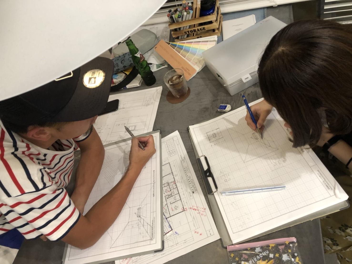 山梨県の工務店、未来建築工房とつくる注文住宅。|現役大学生と実践パースの勉強