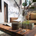山梨県の工務店、未来建築工房とつくる注文住宅。 南アルプス市にて吹き抜けと中庭のあるブルックリンスタイルの家