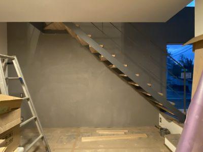 山梨県都留市のカフェスタイルの家、もう間も無く完成。